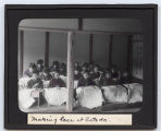 Lantern slide 'Making Lace at Setoda'