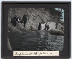 Lantern slide 'Baptism at Ikijuma'