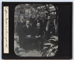 Lantern slide 'Captain Bickel and Evangelists'