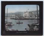 Lantern slide 'The bund of Kobe'