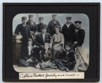 Lantern slide 'Captain Bickel family and crew'