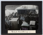 Lantern slide 'Deck meeting'