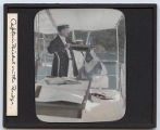 Lantern slide 'Captain Bickel on the Bridge'