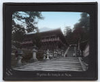 Lantern slide 'Nigetsu-do temple at Nara'