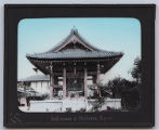 Lantern slide 'Bell-tower at Daibutsu, Kyoto'