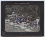 Lantern slide No. 23 'Girls' Pastimes in Japan'