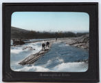 Lantern slide 'Hodzu rapids at Kioto'