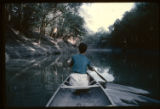[View of Trinity River from canoe]