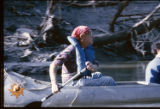 [Ned Fritz canoeing on the Trinity River]