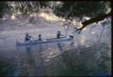 [Ned Fritz and canoeists on Trinity River]