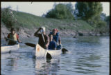[Ned Fritz with canoeing party on Trinity River]