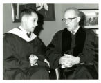 Photograph of Decherd Turner and Rabbi Levi A. Olan at Southern Methodist University