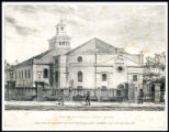Undated print of 'A View of Tottenham Court Chapel', not before 1759, Moore120