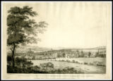 1787 print of 'A North-east View of the City of Bath taken from the Rising-Ground beyond the...