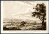 1787 print of 'A South-west View of the City of Bath taken from a Field adjoining the New-Wells...