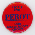 ['People for Perot' Pin-Back Button]
