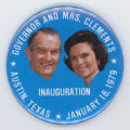 ['Governor and Mrs. Clements Jugate Pin-Back Button]