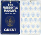 [54th Presidential Inaugural Guest Pass]