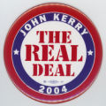 ['John Kerry, The Real Deal' Campaign Button]
