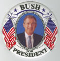 ['Bush for President' Campaign Button]