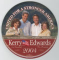 ['United for a Stronger America' Campaign Button]