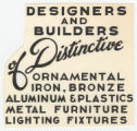 [Advertisement Copy or Sales Catalog Page: Designers and Builders]