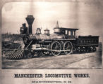 [C. B. & Q. R. R. locomotive and tender, Manchester Locomotive Works]
