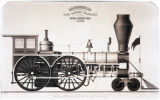 [''Columbia'' locomotive, Lowell Machine Shop]