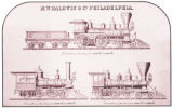 [Locomotives, Three plans, M. W. Baldwin & Co. Locomotive Builders]