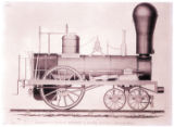 [Locomotive engine, Hinkley & Drury Builders]
