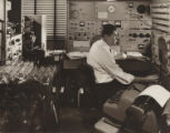 [Adjusting control panel, Gulf Oil Corporation, Harmaville, PA]