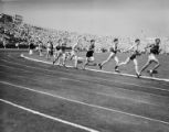 [Runners competing at the 1936 Randall's Island Olympic trials, New York, NY]