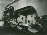[New York Central Twentieth Century Limited steam locomotive 5453, Harmon, NY, print 1823-20]