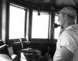 [Tow Boat Radio Being Used, Harbor Island, Texas]