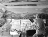 [Frank Mudge Edwards, 87 Years Old, Painting Mural at Pleasure Hill]