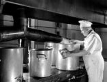 [Army Cook Steaming Cauliflower, Pepperell Manufacturing Company]