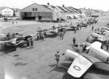 [Pilots Walking Towards Aircraft Hangar, Randolph Field]