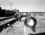 [Track Maintenance, Signal Light 3501, Texas & Pacific Railway Company]