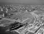 [Aerial View, Seatrain Louisiana at Refinery Dock, Seatrain Lines]