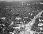 [Aerial View, Theodore Newton Law Residence (Center), Houston, Texas]