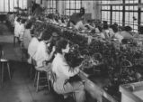[Women working in the Pinion Department at Bulova Watch, NY]