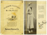 [Advertisement, Summer Clothes in the Sports Shop Tradition, Neiman Marcus, ca. 1930]