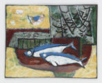 Enameled Artwork: Still Life with Two Fish