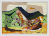 Enameled Artwork: Mountain Landscape