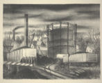 Untitled (coal cars and water tank)