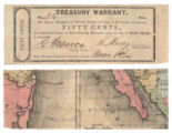 Tarrant County 50 cents (fifty cents) treasury warrant