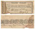 Tarrant County $2.50 (two dollars and fifty cents) treasury warrant