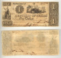 Republic of Texas $1.00 (one dollar) change note