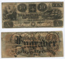 Republic of Texas $10.00 (ten dollars) ''redback'' note
