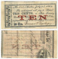Browne & Burlage 10 cents (ten cents) private scrip